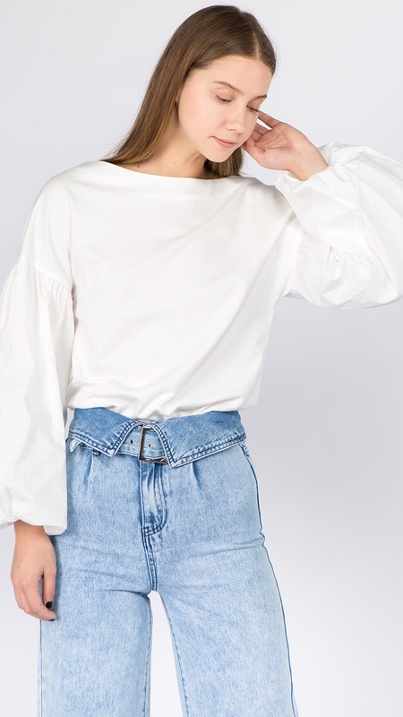 Paloma Billow Sleeve Knit Blouse