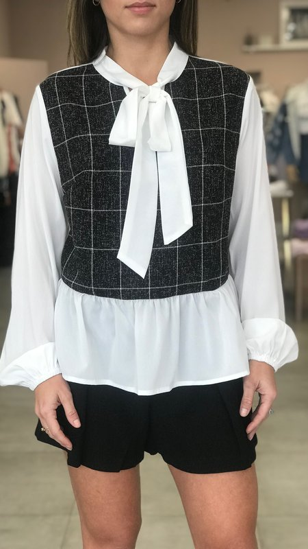 Iris Plaid Blouse