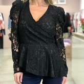 Audrina Lace Puff Sleeve Top