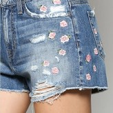 Glenn High Rise Floral Embroidery  Shorts