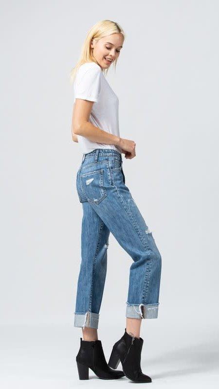 Krysta Distressed Boyfriend Jeans