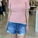 Amabel Scallop Edge Short Sleeve Sweater