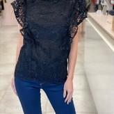 Erina Sheer Ruffle Lace Top