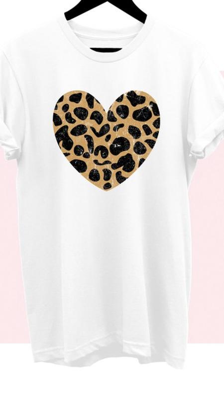 Bandit Leopard Heart Graphic Tee
