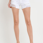 Tess Mid Rise Distressed Shorts