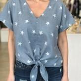 Jenny Star V Neck Top