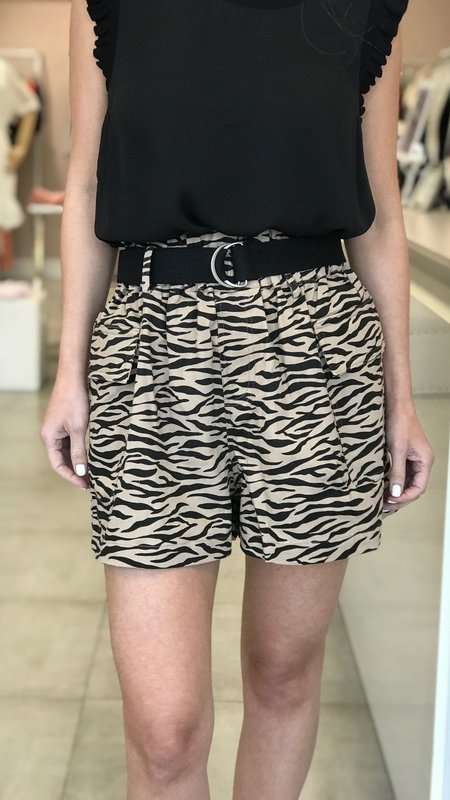 Laurie Zebra Utility Shorts
