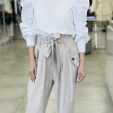 Tina Sack-Waist Pants With Pockets