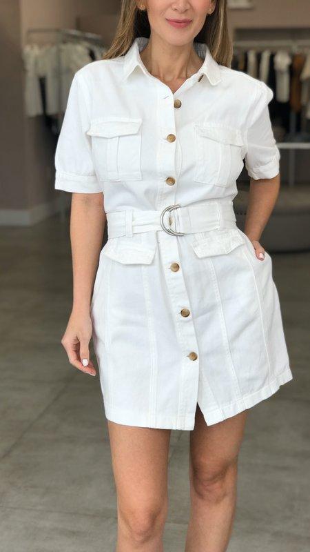 Lynn Denim Belted Dress