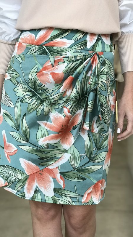 Joan Tropik Asymetrical Pencil Skirt