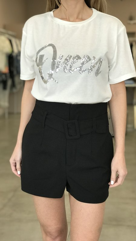 Pauline High Waist Shorts With Belt