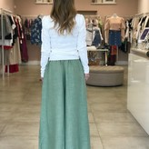 Callie Draped Ruffle Linen Pants