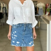 Angie Distressed Mini Skirt