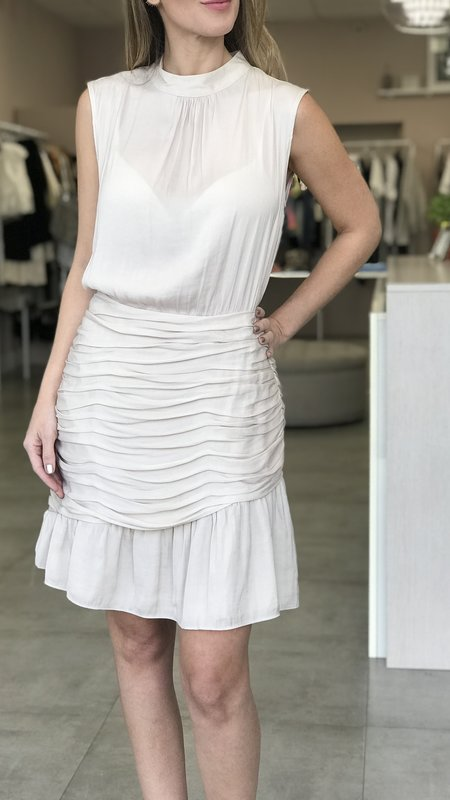 Sonya Mock Dress With Ruched Skirt