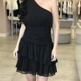Layla One Sleeve Ruffle Ruched Dress