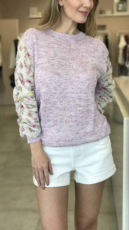 Essy sweater With Contrast Sleeve