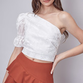 Aurora  One Shoulder Lace Embroidered Top