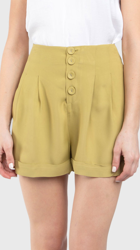 Ophelia Pleated Roll Up Shorts