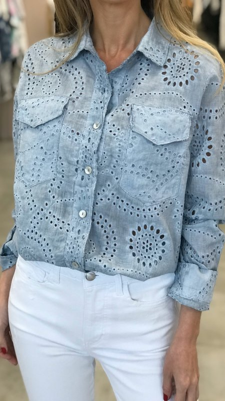 Lavinia Eyelet Long Sleeve Blouse