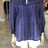 Vick Striped Blouse with Lace Detail
