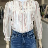 Billie Striped Blouse with Lace Detail