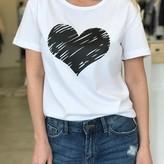 Mercy Heart Print Round Neck T-Shirt