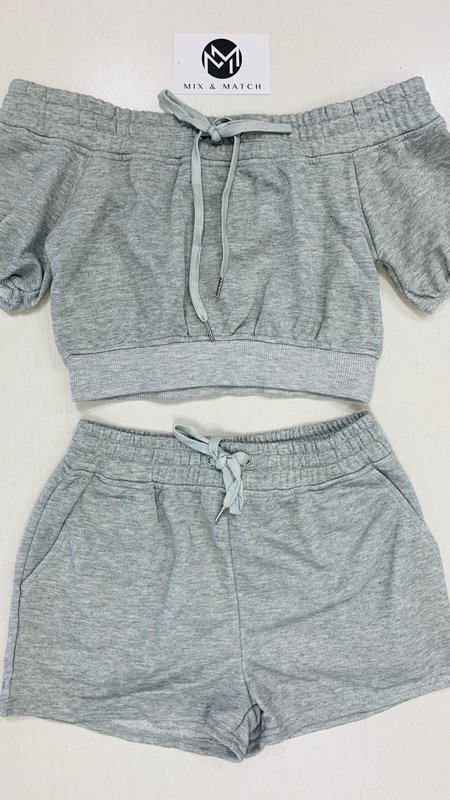 Brooklyn French Terry Crop & Shorts Set