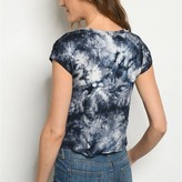 Harper Tie Dye Detail Short Sleeve Top
