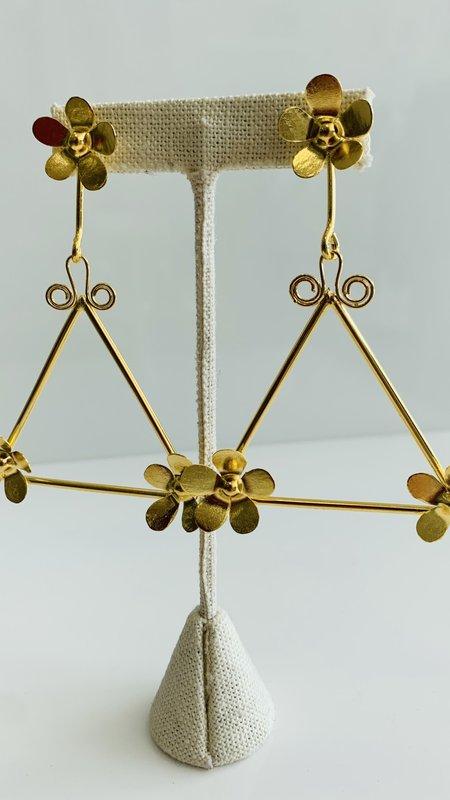Aster Triangle Flower earrings