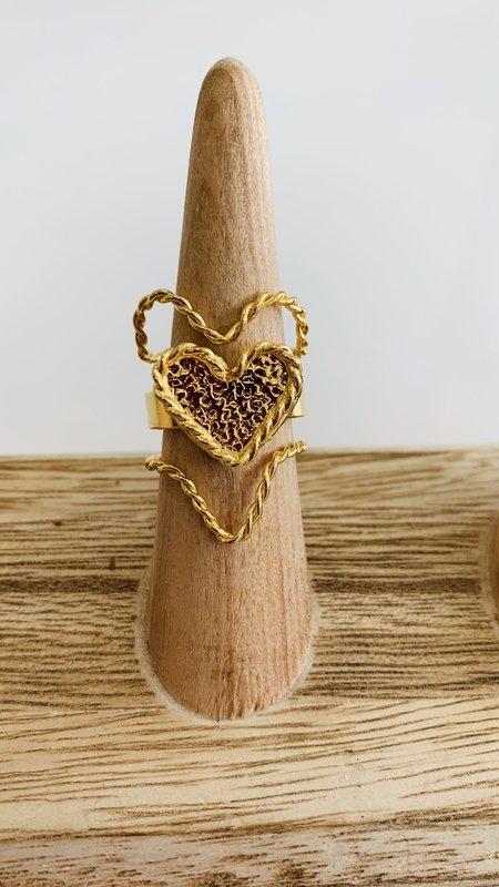 Hebe Adjustable Heart Ring