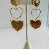 Aster Heart Long Earrings