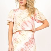 Susan Tie Dye Crop Silk (feel)  Top
