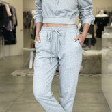 Candice Off Shoulder French Terry & Pants Set