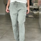 Amelia Jogger Pants with Silver Side Stripe