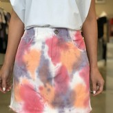 Nancy Tie Dye Denim Skirt