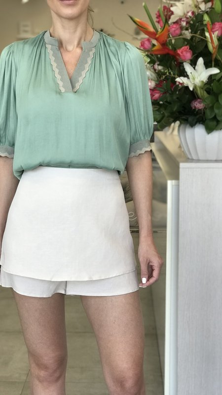 Koco  Layered Hem Shorts