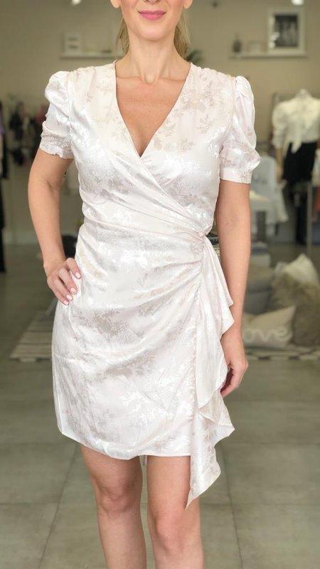 Dina Shirred Wrap Dress