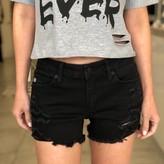 Jenny Mid Rise Distressed Shorts
