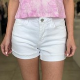 Lola Mid Rise Shorts With Hem