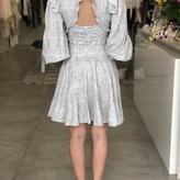 Alix V Neck  Backless Long Sleeve Dress