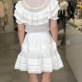 Hade Short Sleeve Dress With Ruffles