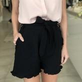 Nitha Tie Waist  Ruffle Flutter Shorts