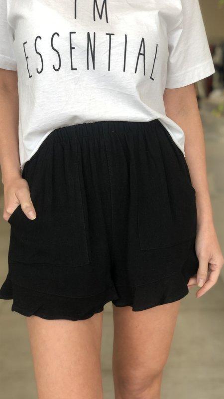 Britt Ruffled Hem Shorts