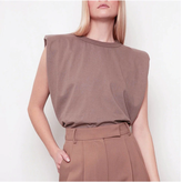 Anha Shoulder Pad Muslce Tee