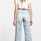 Clair High Rise Distressed Wide Leg Jeans