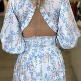 Cathy Long Sleeve Backless Dress