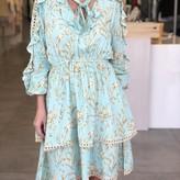 Natie Ruffle Details Long Sleeve Dress