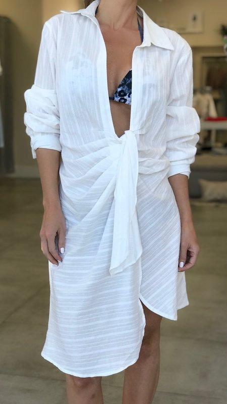 Leonie  Long Sleeve Ruched Shirt Dress