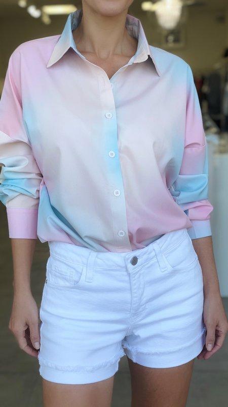 Lisa Tie Dye Long Sleeve Button Down Blouse