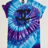 Berry Tie Dye Chanel Graphic Tee